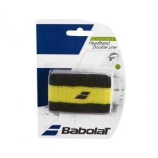 Babolat Headband Double Line Black Yellow