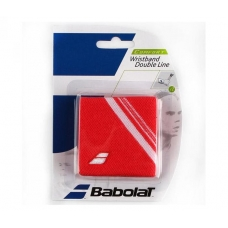 Babolat Wristband Double Line Coral