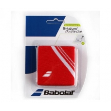 Babolat Wristband Double Line Red