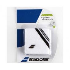 Babolat Wristband Double Line White