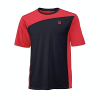 Tricou Wilson Rush Colorblock Men Black Red