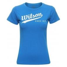 Wilson Retro Cotton Since 1914 Crew W Blue